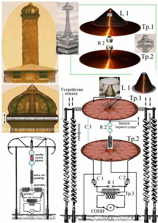 Схемы патентов Николы Тесла,